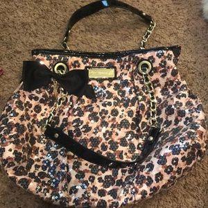 Betsey Johnson leopard sequin purse